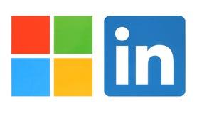 Microsoft- und Linkedin-Logos