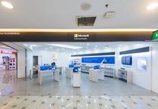 Microsoft upoważniał odprzedawcy w Niskim Yat placu, Kuala Lumpur Zdjęcie Royalty Free