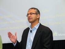 Microsoft Vice-President of Business Solutions Satya Nadella. SAN DIEGO, CALIFORNIA - MARCH 12, 2007: Microsoft Vice-President of Business Solutions Satya Stock Photos