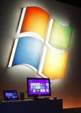 Microsoft visionne l'hublot préalablement 8 Images libres de droits