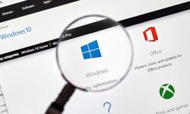 Microsoft Window 10. Stock Images