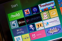Microsoft windows 8 Stock Photo