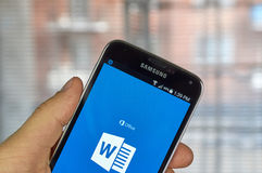 Microsoft Word app Immagine Stock