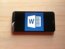 Microsoft Word-APP lizenzfreies stockfoto