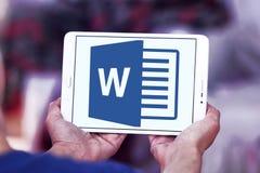 Microsoft Word-embleem royalty-vrije stock foto's
