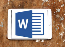 Microsoft word logo Royalty Free Stock Image