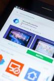 Microsoft wyrzutni ikona w liście mobilni apps Ryazan Rosja, Marzec - 21, 2018 - Zdjęcia Royalty Free