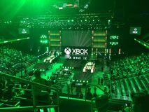 Microsoft xbox e3 2014 press conference. Microsoft E3 2014 press conference in Galen Center, Los Angeles royalty free stock images