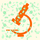Microspoce und Bakterien Lizenzfreies Stockfoto