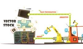 Microstock Market Working Concept Cartoon Schema Stock Photos