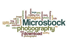 Microstock photography - Word Cloud Royalty Free Stock Photo