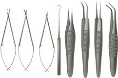 Free Microsurgery Tools Set Stock Photography - 96695142