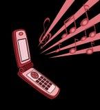 Microteléfono Fotografía de archivo libre de regalías