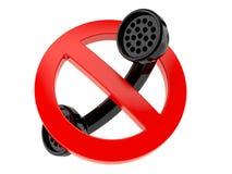 Microteléfono con la muestra prohibida libre illustration