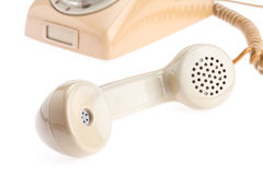 Microteléfono de teléfono Fotos de archivo libres de regalías