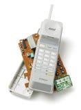 Microteléfono de teléfono inalámbrico Imágenes de archivo libres de regalías