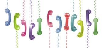 Microteléfonos del teléfono Fotografía de archivo libre de regalías