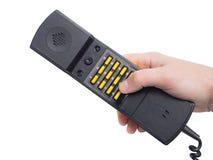 Microtelefono con i numeri dei bottoni fotografia stock libera da diritti