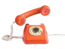 Microtelefono d'annata di risposta del telefono Fotografia Stock