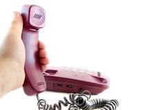 Microtelefono a disposizione fotografie stock libere da diritti