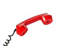 Microtelefono rosso immagini stock libere da diritti