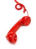 Microtelefono rosso del telefono fotografie stock