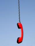 Microtelefono rosso del telefono immagine stock