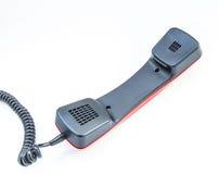 Microtelefono su un fondo bianco fotografia stock libera da diritti