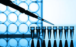 Microtubes fotografia de stock royalty free