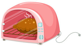 Microwave. Illustration of isolated microwave on white background Royalty Free Stock Images