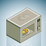 Microwave. (part of the Kitchen Utensils Isometric 3D Icons Set Royalty Free Stock Photography