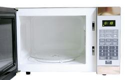 Microwave. Opened microwave stock photography