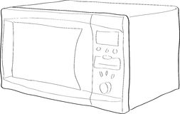 Microwave. Outlined illustration of a microwave oven Stock Photography