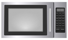 Microwave. Grey microwave on white background Stock Image
