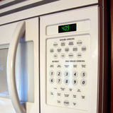 Microwave. Front view of a microwave oven Stock Photo