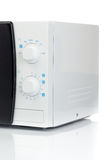 Microwave analog control closeup. Stock Photo