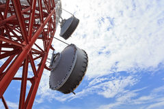 Microwave antenna Stock Images