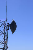 Microwave antenna tower Stock Photos