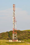 Microwave tower antenna Stock Photography