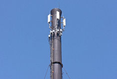 Microwave and cellular tower Stock Photo