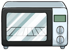 Microwave. Close up electronic microwave oven Royalty Free Stock Image