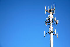 Microwave Communication Tower Royalty Free Stock Photos