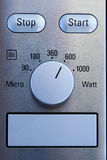 Microwave control panel Royalty Free Stock Images
