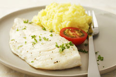 Microwave Fish and Mashed Potato Royalty Free Stock Photo