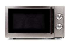 Microwave front view Royalty Free Stock Images