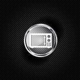 Microwave icon. kitchen equipment Stock Photography
