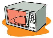 Microwave. An Illustration of a retro microwave oven Royalty Free Stock Photography