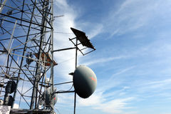 A microwave link on a mountain in virginia Stock Photo