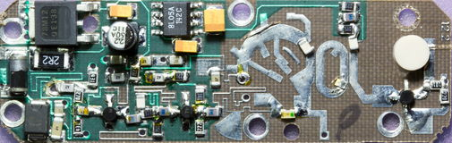 Microwave oscillator printed circuit board Royalty Free Stock Images