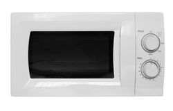 Microwave oven. Shot over white, modern stainless steel design Royalty Free Stock Photo